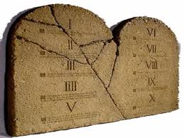 10 commandments on stone