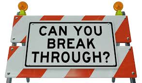 "sign ""can you break through?"""