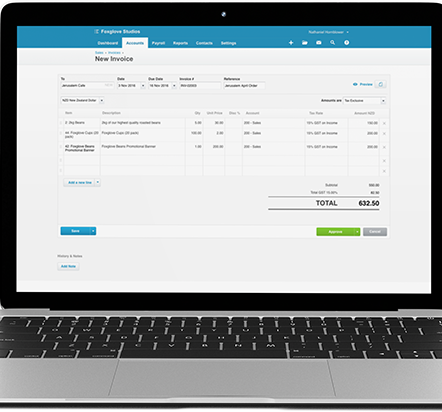 Xero Accounting Software Laptop