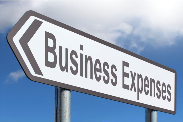 business expenses sign