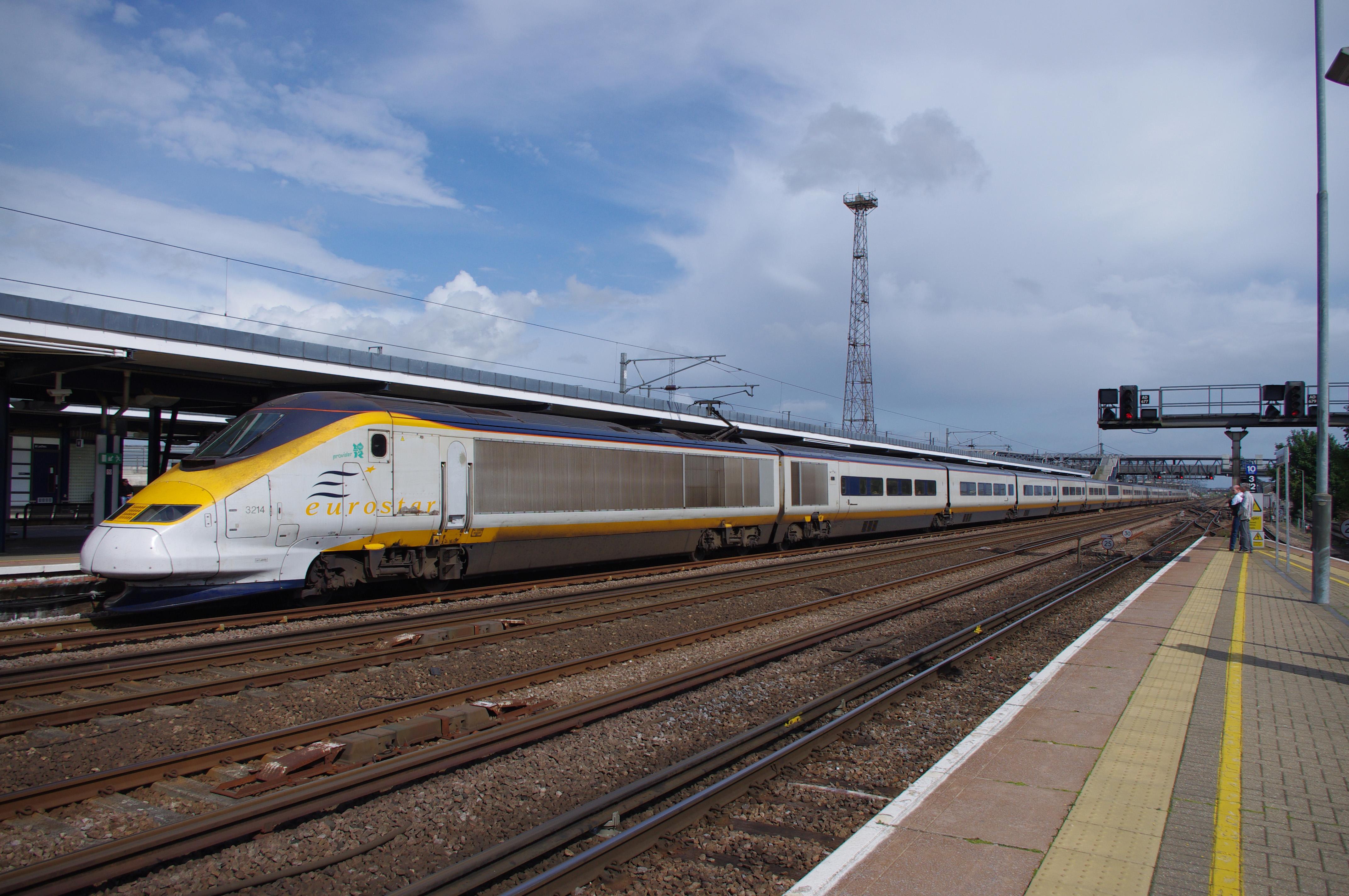 train going through ashford international